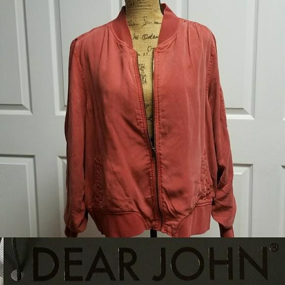 7ae73633bd803 dear john Jackets & Coats | Dalba Bomber Jacket Nwt 2x Crimson ...